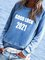 Letter Crew Neck Casual Sweatshirt